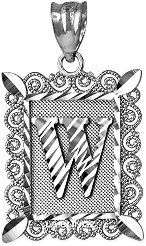 LA BLINGZ 14K Rose Gold Filigree Alphabet Initial Letter J DC Charm Necklace