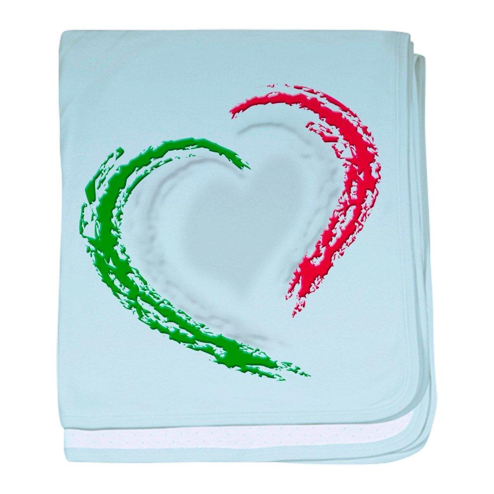 CafePress – イタリアハート – スーパーソフトベビー毛布、新生児おくるみ ブルー 088210442825CD2  スカイブルー B01JOPHUN6