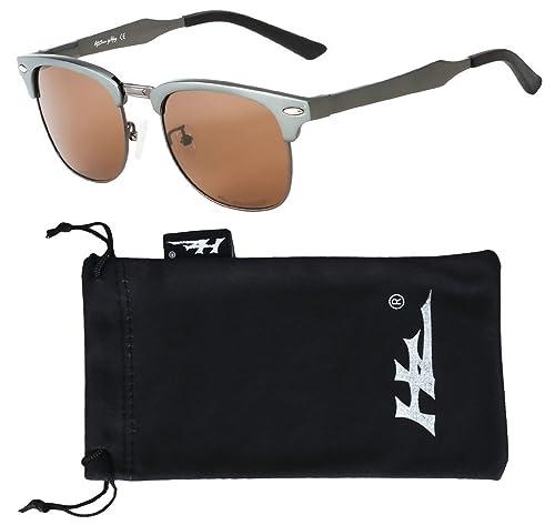 HZ Series AeroMaster – Premio occhiali da sole polarizzati, realizzate in alluminio alta qualità aerospaziale da Hornz