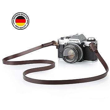 TARION TNS-L3 - Correa para cámara de Fotos (Piel auténtica ...