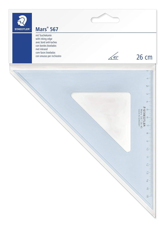 Staedtler 567 26-60 - Escuadra (22 cm, 60/30 grados), color azul translúcido