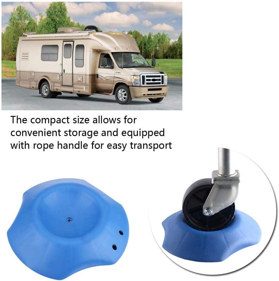 KIMISS Auto-Stop-Block UV-gesch/ütztes kunstharzbeschichtetes Wohnmobil oder Anh/änger Blue Wheel Dock Stabilizer Stop mit Seilgriff