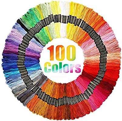 150 ATDAWN Rainbow Color Embroidery Thread,Cross Stitch Threads Crafts Floss Bracelets Floss