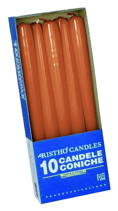 Nero colore Papstar 10392-50 Candele per candelabro diametro 2,2-25 cm