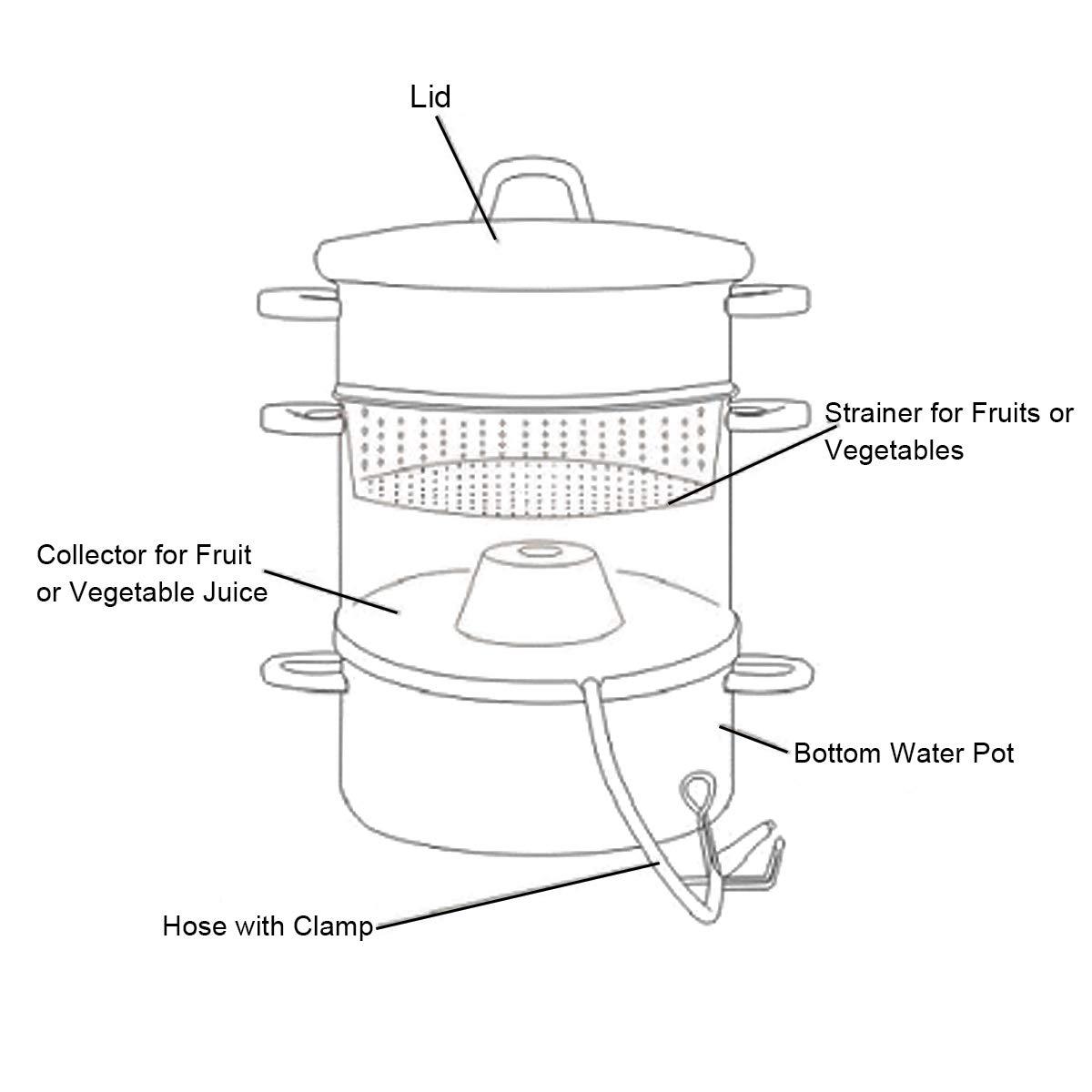 Amazon.com: Giantex 11 Quart Juice vaporizador de frutas y ...