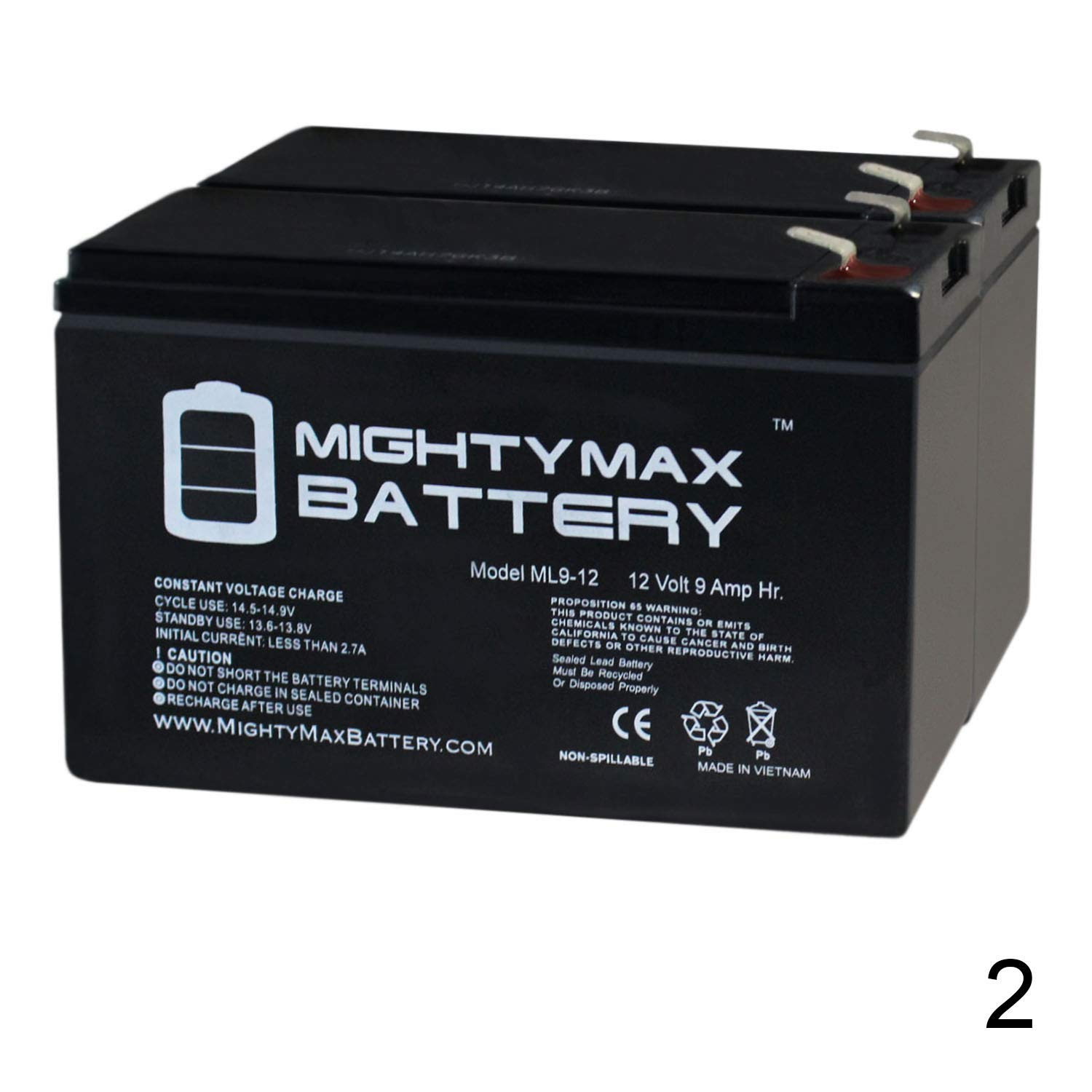 Mighty Max Battery 12V 9AH Replacement for Razor Pocket Mod Electric Scooter - 2 Pack Brand Product