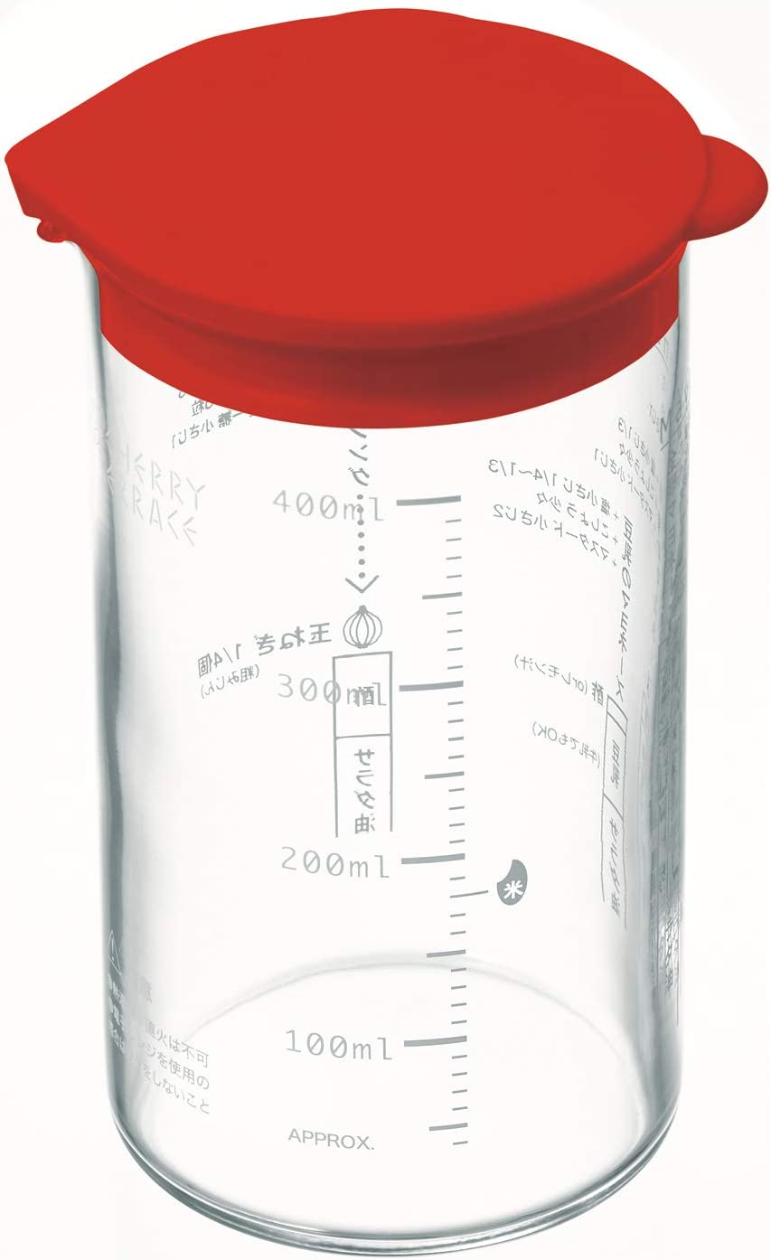 Bamix (Bar Mix) Mixing Glass Measuring Cup Red