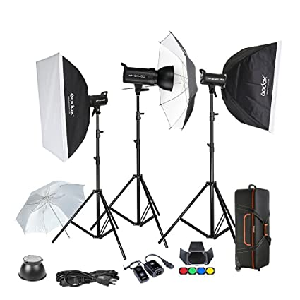 amazon com godox sk400 3 x 400w flash kits for photographic