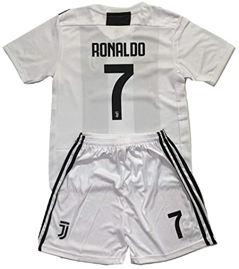 best service 50c46 02e94 NGNWear Ronaldo #7 Juventus 2018-2019 Youths Home Soccer Jersey & Shorts Kit