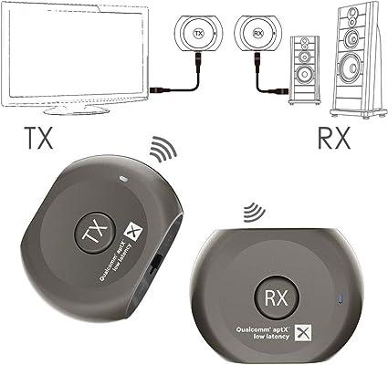 Avantree Lock Set Pre-emparejados aptX Baja LATENCIA Bluetooth ...