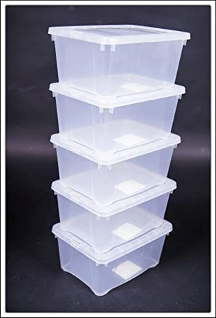 Ordentlich Amazon.de: 5x Klarsichtbox mit Deckel - 20 x 15 x 9 cm - 5er Set  MT97