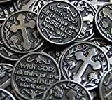 Set of 10 With God All Things Are Possible Pocket Token Coins