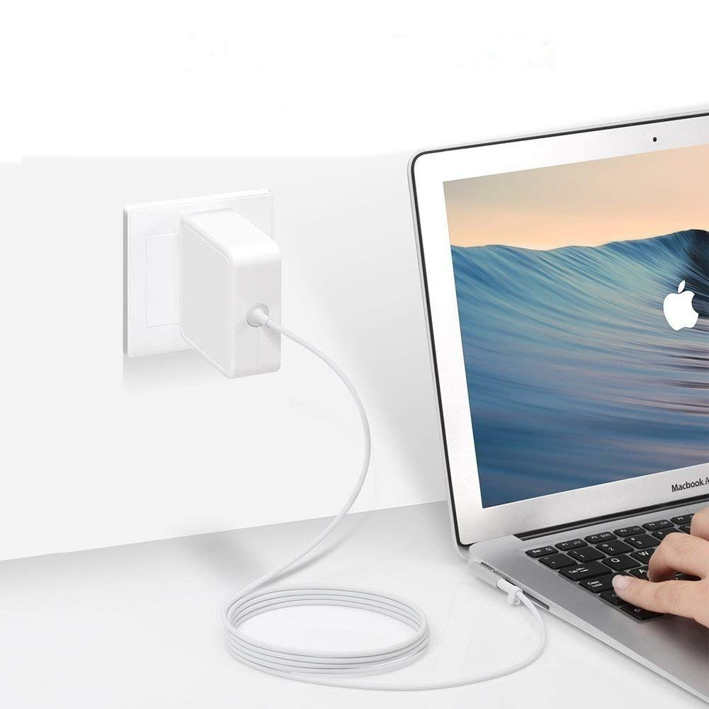 Mac Book Pro Charger,60W MagSafe Power Adapter Magnetic L-Tip Connector Charger for Mac Book and 13-inch Mac Book Pro (60W-L)