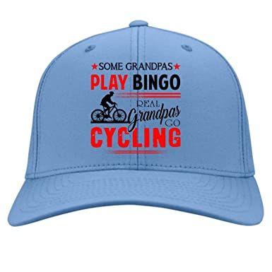 80cf77a3b9b Real grandpas go cycling knit cap i a cycling grandpa hat twill cap light  blue at amazon