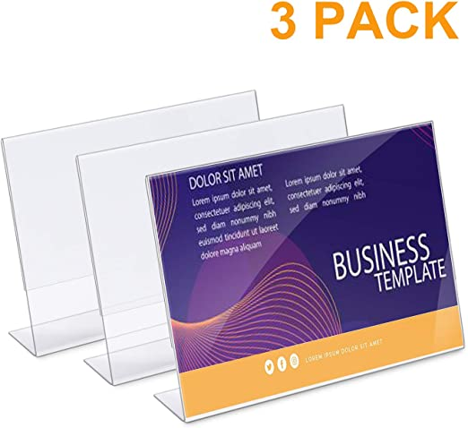 Amazon.com: Soporte para carteles de acrílico de 8.5 x 11.0 ...