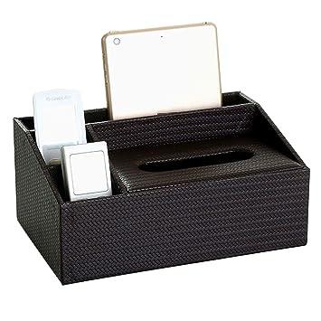 Kleenex - Soporte de pañales para caja de pañuelos, piel sintética, dispensador de pañuelos para el hogar, oficina, coche, funda de pañuelo talla única ...