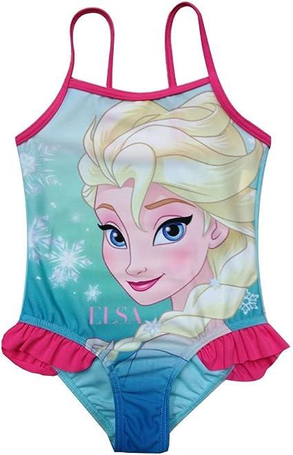 Celeste 3-7 Anni Costume Intero Bambina Frozen Elsa