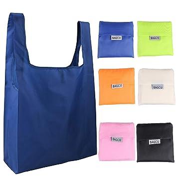 Moda 6 bolsas plegables reutilizables para alimentos, bolsa ...