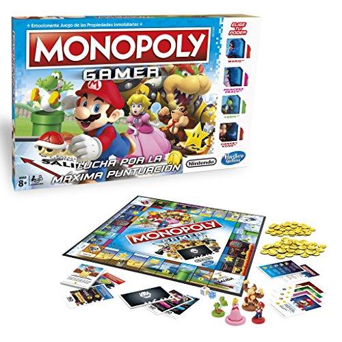 Monopoly Hasbro Gaming Juego De Mesa Gamer Version Mario Bros