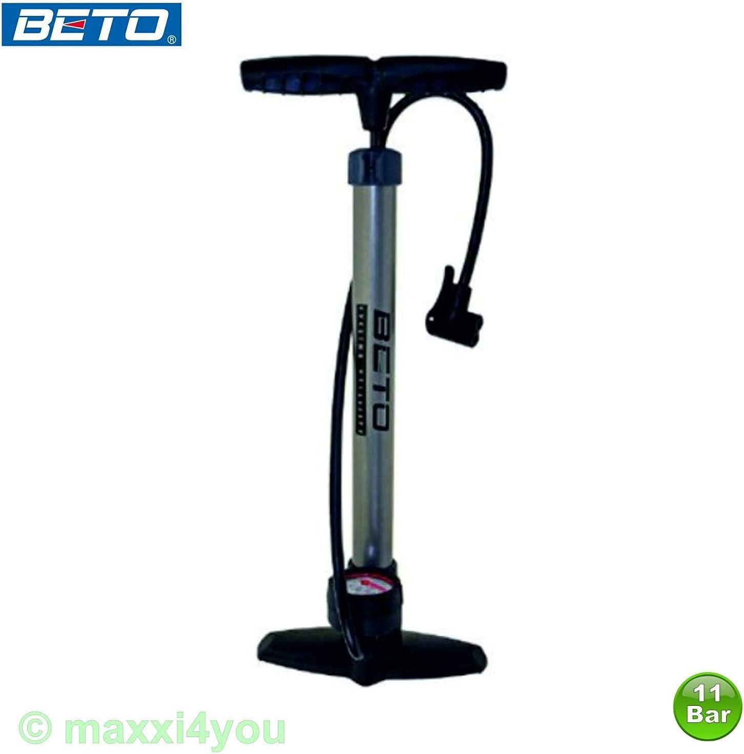 Beto Stahl Standluftpumpe Luftpumpe Fahrradpumpe AV//DV//SV Ventile