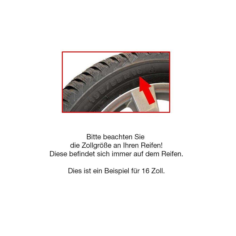 Farbring /& Gr/ö/ße w/ählbar CM DESIGN 15 Zoll Orden universell ! 4 x Schwarze PKW Radkappen Radzierblenden mit Ring Blau Schwarz//Blau