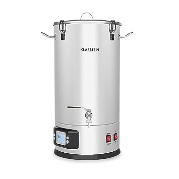 Klarstein Maischfest caldera • Olla para producir cerveza • 2 niveles: 1500/3000 W • 30 litros • Lote de 5 piezas • Cubo para filtrar • Espiral ...