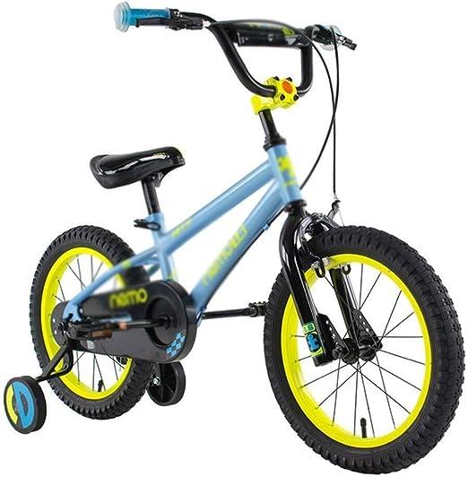 AJZGF Bicicletas niños Bicicleta for niños Freestyle Bicicleta 2 Colores en Varios tamaños Bicicleta Infantil (Color : Blue, Size : 14