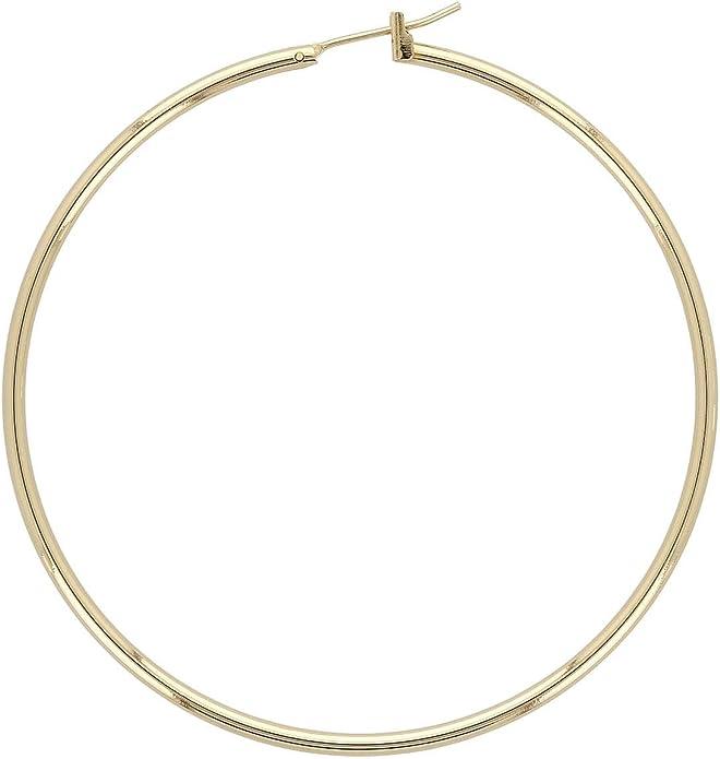 Très jolies  boucles d/'oreilles anneaux  métal doré garanti sans nickel N°600