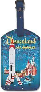 Pacifica Island Art Leatherette Luggage Baggage Tag - Disneyland by David Klein