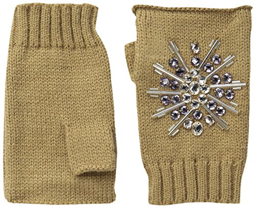 Gem Top Hat - San Diego Hat Company Women's Fingerless Gloves with Faux Gems, Pecan, One Size