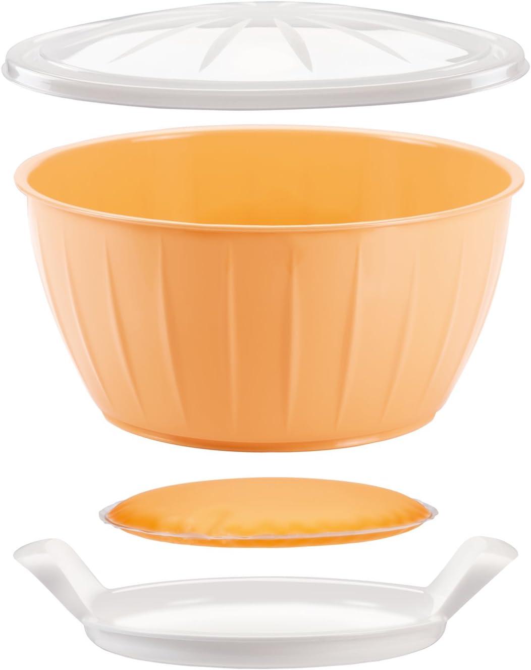 Tescoma Delicia Bol Fermentar Masa con Gel Calentador, Amarillo, 26,6 x 14,2 x 26,5 cm
