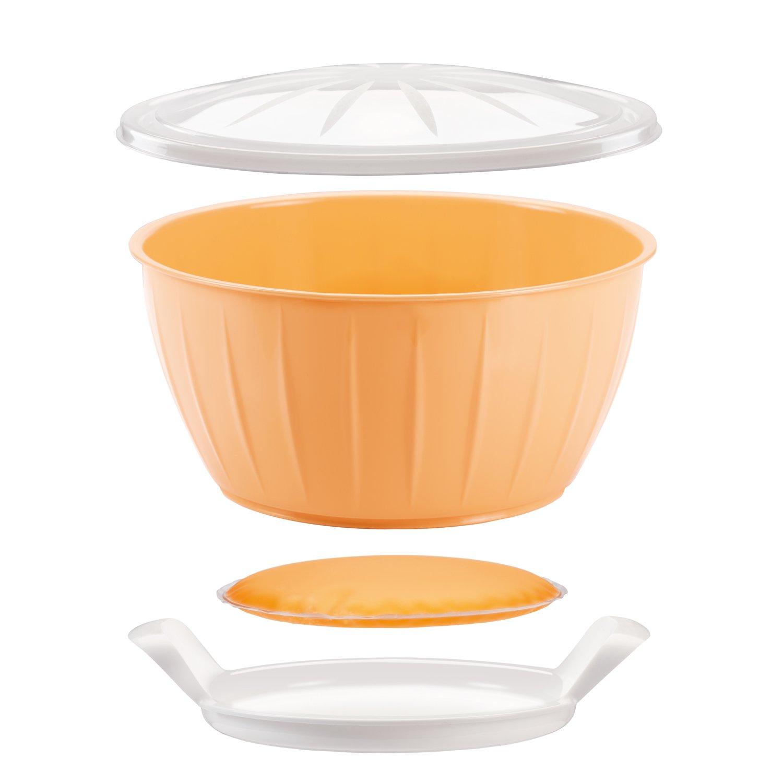 Tescoma Delicia Bol Fermentar Masa con Gel Calentador, Plástico, Amarillo, 26,6 x 14,2 x 26,5 cm T630381