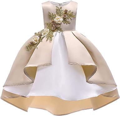 Lau's Robe de Mariage pour Fille a Fleur