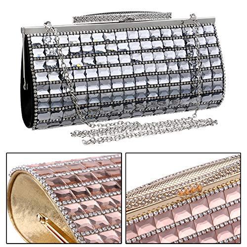 Black Clutches Purse Chain Bags Rhinestones Handbags Dress Evening For Wedding Womens xwFpqqCv