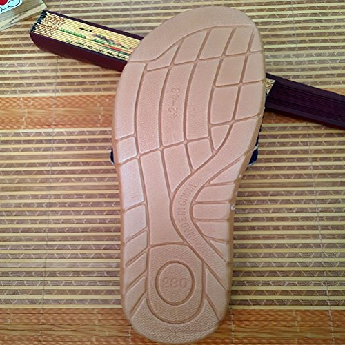 Shoes Goal House for Slippers Skidproof Slippers Beach Brown Sandals Men Outdoor Wind Indoor Summer Women Indoor Linen qpdYRwx6R