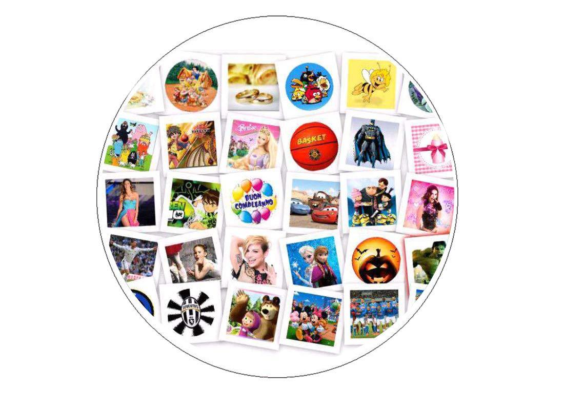 Ostia cialda per torta personalizzabile immagine foto logo a scelta mo - decor