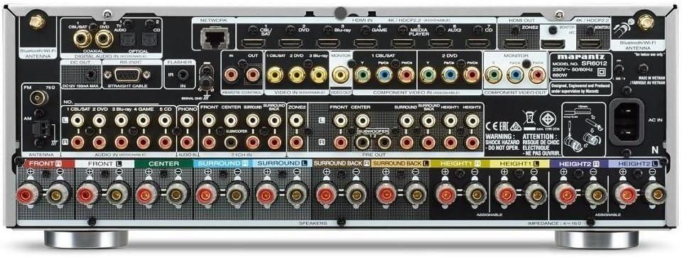 Marantz SR6012 110W 9.2canales Envolvente Negro - Receptor AV (110 W, 9.2 canales, Envolvente, 185 W, Inalámbrico y alámbrico, ...