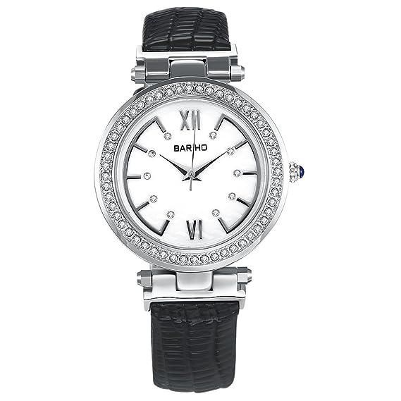 Negro Online Shopping Relojes Mujer Mujeres gesch?FTS de cuarzo de aleación cristal nuevo con