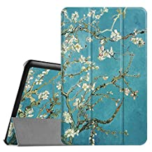 Fintie Samsung Galaxy Tab E 9.6 Case - Ultra Slim Lightweight Stand Cover for Samsung Tab E Wi-Fi / Tab E Nook / Tab E Verizon 9.6-Inch Tablet (Fit All Versions SM-T560 / T561 / T565 / T567V), Blossom