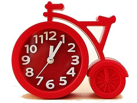 dlmy niños Digital alarma de batería reloj para dormitorio, sin tic tac reloj de dormitorio