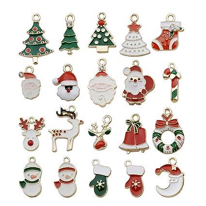 747529327d4 Amazon.com  Youdiyla 40 PCS Colors Enamel Christmas Charms ...