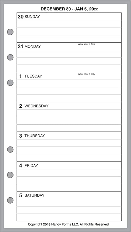 Amazon.com : 2019 Weekly & Monthly Planner for 6 Ring ...