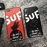 SUP Goku Softshell Silicone Case iPhone 6/6 Plus/iPhone 7/7 Plus/iPhone 8/8 Plus/iPhone X Matte Finish Luxury Designer Street Fashion Hypebeast iPhone Case (Black, iPhone 7 Plus/ 8 Plus)