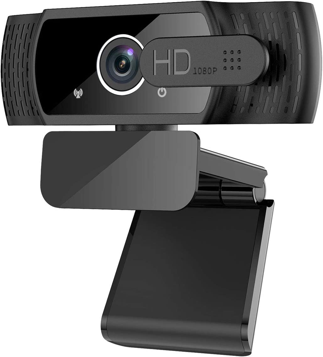 Webcam with Microphone, 1080P HD Desktop Laptop Computer Web Camera with Privacy Cover, Plug & Play, Noise Reduction, Web Cam USB Camera for Zoom, Online Classes, Video Calling, Conferencing