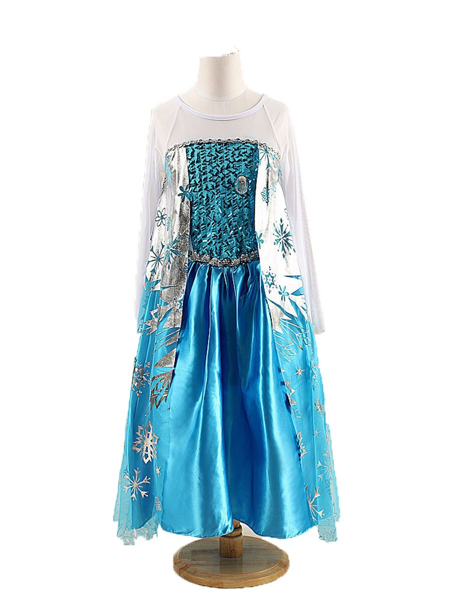 Buy Fancydresswale Girls New Princess Party Costume Long Dress Up (7 ...