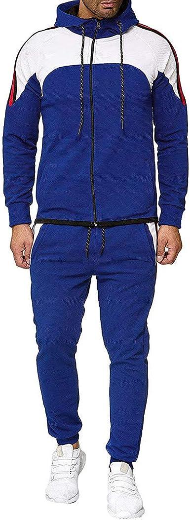 Nouveau 2Pcs//Set Homme Veste Pantalon Survêtement Sport Jogging Athletic sportswear casual