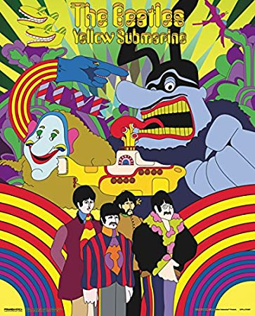 The Beatles Yellow Submarine Lenticular 3D Poster 8x10