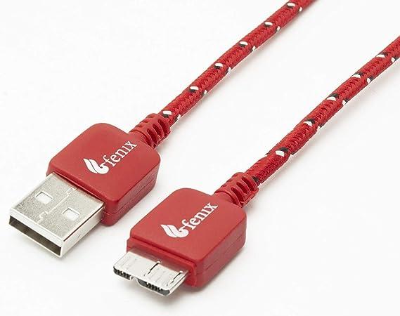 Amazon.com: Fenix – 6.5 pies/2 metros – Nylon trenzado USB ...