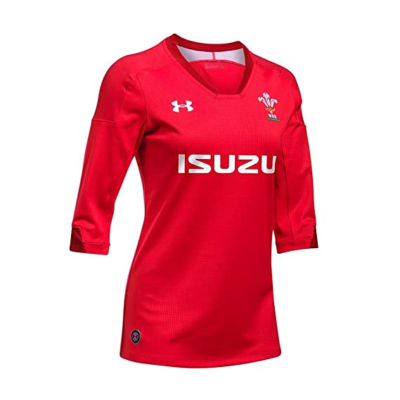 ad37b90bd31 Wales WRU 2018/19 Ladies Home S/S Replica Rugby Shirt - Red: Amazon.co.uk:  Clothing