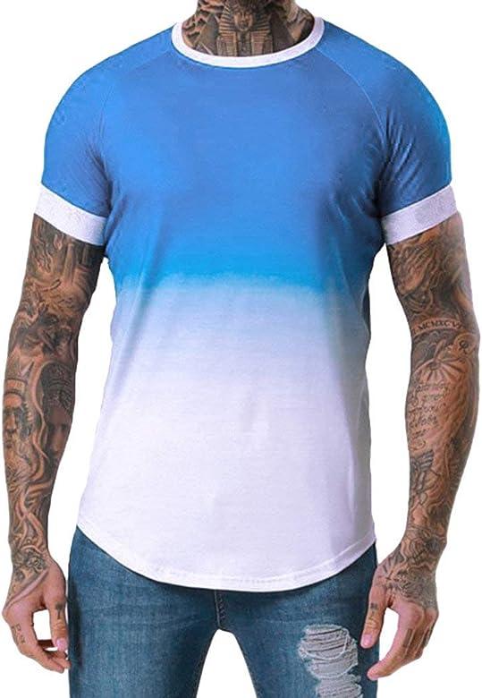 riou Camisetas Hombre Manga Corta Moda Personalidad Estampada ...